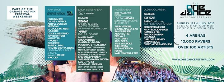Buy Tickets For Garage Nation Presents The One Dance Festival